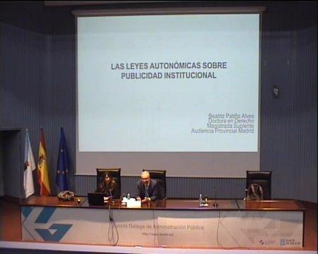 As leis autonómicas sobre publicidade institucional  - Curso Monográfico sobre Publicidade Institucional